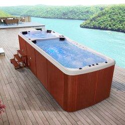 Для использования вне помещений японской деревянные бассейн в ванной комнате над землей