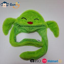 Ohren, die Schildkröte-Plüsch-Hut flattern