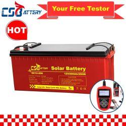 Csbattery 12V 200Ah/250ah/300ah Bleiakku AGM für Auto/Motorrad/EPS/Boot/Power-Tool/Pack/CSE