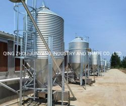 Silo de galvanizado Equipo para avicultura Equipo alimentar a los recipientes de almacenamiento/granja avícola Anaqueles Silo alimentación
