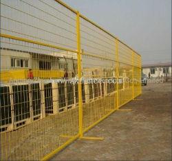 rete metallica provvisoria gialla della rete fissa della saldatura elettrica della costruzione di 2.1*2.4m