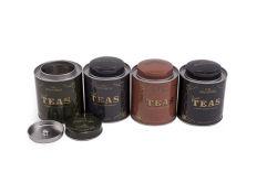 Impressão personalizada de chá Chá de embalagem de metal redonda Dom Caixa de estanho