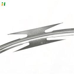 PVC コーティング Concertina Razor ワイヤーフェンスの価格 CBC-65 Razor 頭金 ワイヤ