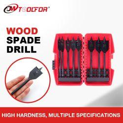 나사 8PC 평면 스페이드 드릴 비트가 있는 전문가용 스페이드 드릴 나무 절단 설정