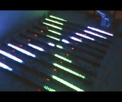 240LED RGB Wand-Unterlegscheibe-Licht 3row 8pixels der Matrix-LED