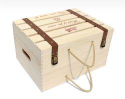 Geschenk-Kasten-Qualitäts-hölzerner Kasten für Hotel-Gaststätte-Stab-Holz-verpackenkästen für Rotwein