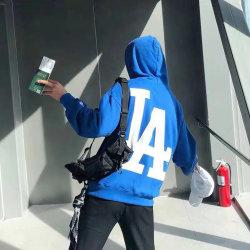 Exklusive heiße Art-Baumwolle Hoodie mit einem großen La-Druck auf dem rückseitigen Hoodie der Männer