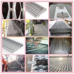 Rejilla de tablones anchos de vía de la escalera del soporte de agarre Non-Slip Rejilla de seguridad Materiales de construcción metálicos