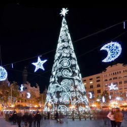 Nuevo comercial del árbol de Navidad de lujo de llegar a Plaza Pública Decoraciones