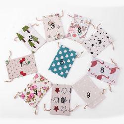 공장 직매; 사탕의 굵은삼베 부대는 면 옷의 즐거운 부대를 Wedding 작은 선물 부대 크리스마스 파티 대기권 장식적인 부대를 자루에 넣는다