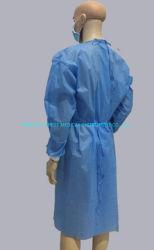 CE aprobada Non-Woven desechables bata de hospital de aislamiento /Prendas de Vestir Bata paciente