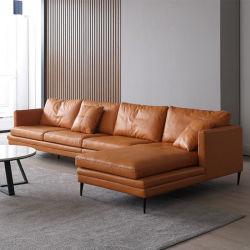 Fabriek directe levering woonkamer L vorm slaapbank Bed 3-zits slaapbank