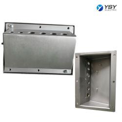 Receptáculo eléctrico personalizados de componentes del equipo caja de aluminio de fabricación de piezas de acero inoxidable de Chapa fabricante de piezas de estampación de las empresas