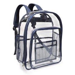 OEM и ODM на молнии прозрачный ясно рюкзак для учащихся из ПВХ