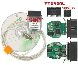 Cabo de diagnóstico para a BMW Inpa K+Pode FT232RL Chip com interruptor