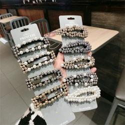 2018 Großhandel Geschenk Mädchen Personalisieren Mode Haarschmuck Accessoires Haarnadel Leopard Crystal Flower Pearl Haarclip für Frauen