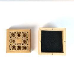 Legno Bamboo artigianale Incense Stick Holder inserito scatola di legno