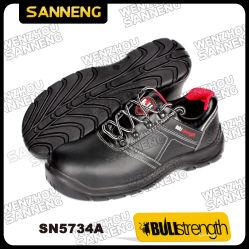 S1p de los hombres Zapatos de seguridad Calzado de base de cuero liso suela PU Calzado Wearproof siempre de alta calidad Comprar precio competitivo para corte bajo oficina de negocios (SN5734)