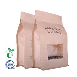 Custom Printed Zip Lock Biodegradable Kraft Paper Bag Met Clear Window