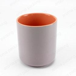 Neue Großhandelsentwurfs-umweltfreundliche kundenspezifische Spray-graue Farben-keramische Kerze-Behälter