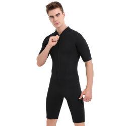 3mmの人のための背部ジッパーの不足分のばねのウェットスーツの水着のネオプレンの潜水服