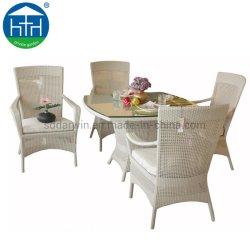 Moderne Terrasse Garten Outdoor Rattan Möbel Harzwicker Esstisch Stuhl Set