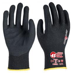Handschoen van het Werk van het Nitril van het Schuim van de Besnoeiing van de Vezel van het basalt A6 13G de besnoeiing-Bestand Zandige