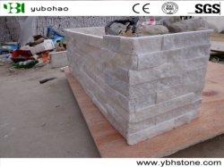 صينية بيضاء الكوارتزيت سايت Stack Stone Stone Stone Stone من أجل الداخل ولوحات الحائط الخارجية/قشرة الزاوية