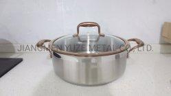 EdelstahlCookware, Küche-Geräte, Potenziometer und Wannen, PVD Griff