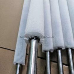 بكرة فرشاة حلزونية ذات شعيرات من النايلون لتنظيف الزجاج الصناعي الدوار