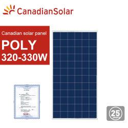 Solar canadiense poli 325W 330W panel solar con el mejor precio