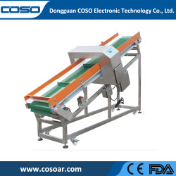 Convoyeur automatique en ligne de détecteur de métal pour le recyclage de l'industrie plastique