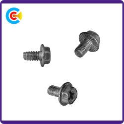 DIN и ANSI/BS/JIS Stainless-Steel Carbon-Steel/M10 с шестигранной головкой фланца с треугольником с плоским лезвием ослабление винта