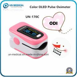 Home Use SpO2 satélite de ecrã OLED Bluetooth portátil do oxímetro de pulso
