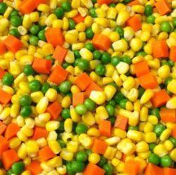 安いフリーズされたにんじんのスイートコーンの豆によってフリーズされる混合された野菜
