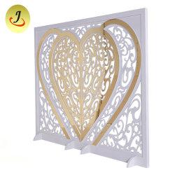 Golden Doce Coração decoração para sala de casamento