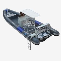 Nervure de la vitesse de l'aluminium 860 nervure Orca Hypalon cabane gonflable Plongée nervure de vitesse