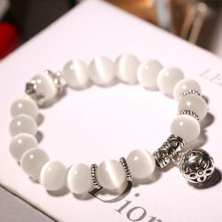 Cordões Opal Natural Braceletes Crystal Fashion Bracelete Mulheres Braceletes Vintage para Mulheres