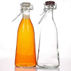 Bouteille en verre clair avec Swing haut bouchon, pour les boissons, du vin, jus de fruits