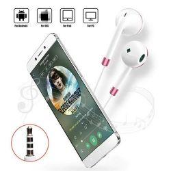 Commerce de gros blanc et noir de l'oreille de téléphones pour connecteur 3,5 mm écouteurs iPhone avec microphone des écouteurs filaires