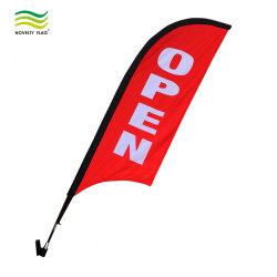 25 도 상점 정면 전시를 위한 잘 고정된 열려있는 깃발 세트