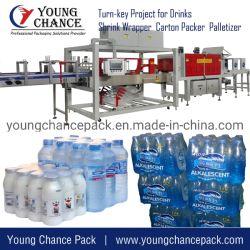 De fles krimpt de Machine van de Omslag/Automatische Hitte krimpt Verpakkende Machine/Plastic Fles krimpt de Machine van het Pakket