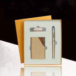 Disque flash USB Premium Stylo en métal et d'alimentation Ensemble cadeau de la banque