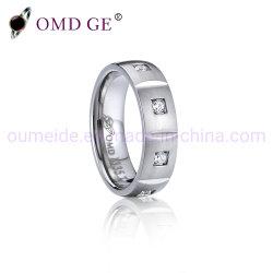 ファッション小物女性のためのチタニウム指リングの宝石類