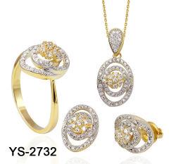 方法宝石類の新しいデザイン925組の銀製CZの宝石類セット