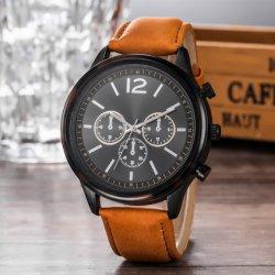 맞춤 브랜드 오리지널 크로노그래프 가죽 커프 쿼츠 손목 시계 WY-17012