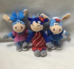 10cm Soft Anime personalizados Llavero de juguetes de peluche burro