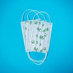 3 fusione blu della mascherina 10PCS/Bag della maschera di protezione dei capretti della piega saltata