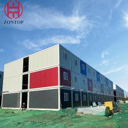 이동식 컨테이너 팜스 라이트 스틸 구조 호텔 빌딩 플랫 팩 접이식 모듈식 컨테이너 사무실