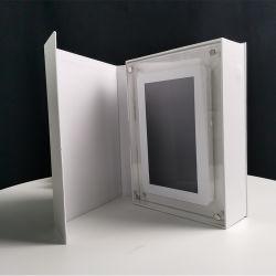 El bastidor de acrílico transparente de tarjeta de felicitación de Vídeo LCD Folleto saludo